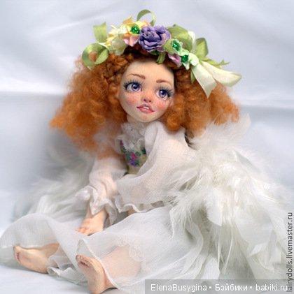 музыкальная кукла, фаянс, 35см