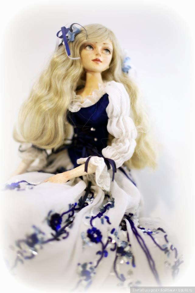 "интерьерная кукла ""Гжель"", фаянс, 51см"