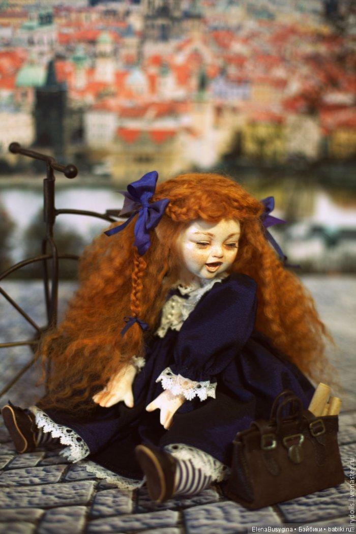 "музыкальная кукла ""Гимназистка"", фаянс, 35см"
