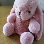 Нежно-розовый заинька