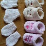 Меховые пинеточки , носочки и варежки из ангорки