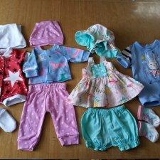 Одежда на пупсов 40-43 см лотом.