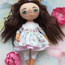 Текстильная кукла-болтушка