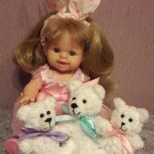 Куклы тоже любят плюшевых мишек. Игрушка вязанная крючком