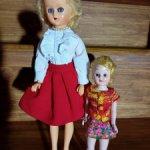Винтажные куклы из колкого пластика 50-60х годов