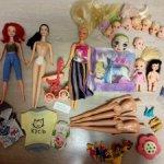 Разные куклы, головы, тела