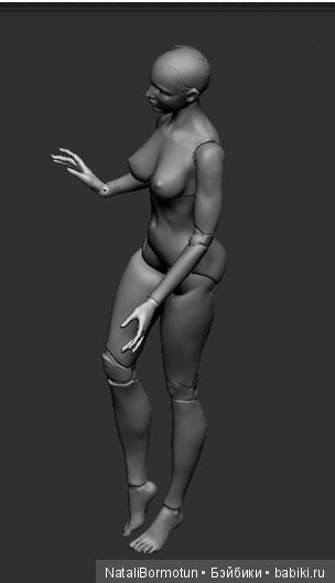 3D модель шарнирной куклы. 2016г