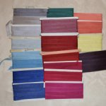 Старинная лента из вискозного шёлка, производство Франция.