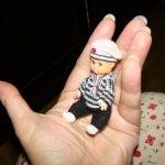 Винтажная малюсенькая кукла Италия