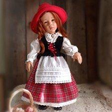 Костюм Красной Шапочки для куклы Готц
