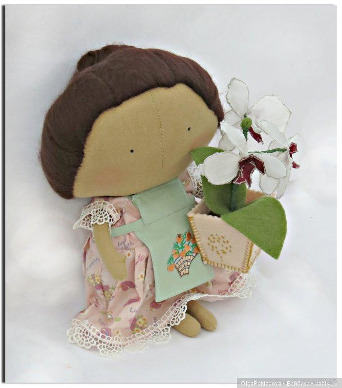 Кукла в стиле Тильда Цветочница
