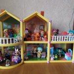 Домик для кукол лол с мебелью и куклами (оригинал)