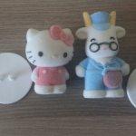 """Набор флокированных фигурок Hello Kitty """"Школьный автобус"""""""