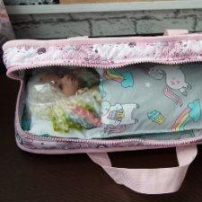 Мягкая переноска для tiny и небольших кукол