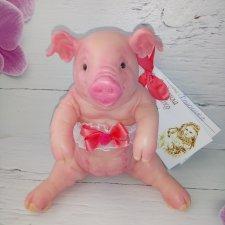 Силиконовая розовая Свинка 13,5 см
