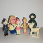 Игрушки СССР Дюймовочка и Стюардесса, колкий пластик
