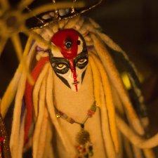Чертополоховый олень, бабочка вечерней зари, белый шаман