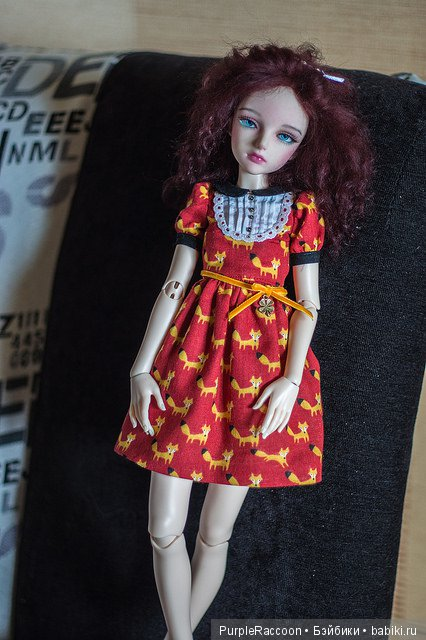 Платье с лисичками :3