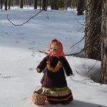 Комплект одежды в русском стиле: зипун, сарафан, лапотки, валенки, чулки, платок - №2
