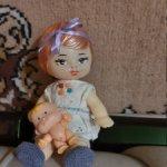 Цена еще ниже! Маленькая винтажная симпатяга-куколка из Киева (Победа)
