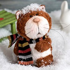 Зимние забавы кота Юко