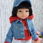 Джинсовая курточка для кукол Паола Рейна,Вихтель,Готц
