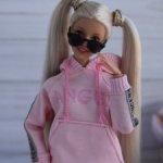 Трикотажные костюмы для Барби