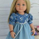 Платье голубое для Кидз Готц 36 см