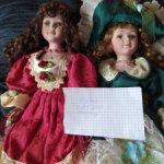 Лот фарфоровых кукол