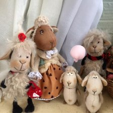 Овечья семейка. Интерьерные текстильные игрушки