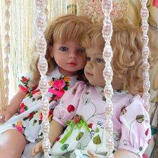 Ягодки-цветочки ... и новая качелька... Летняя история с куклами фабрики TOYSE CE ISPAN и Сиссель Скилле