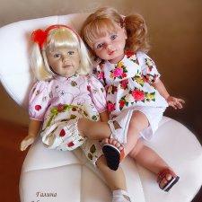 Две подружки встречают гостью... ( о кукле Сиссель Скилле и кукле Тоузе)