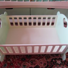 Кроватка деревянная для больших кукол до 66 см