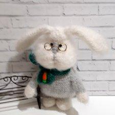 Кролик Саввушка, игрушка вязанные крючком