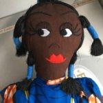"""Интерьерная кукла """"Африканка с малышом"""""""