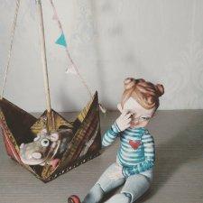 Засиделись. Шарнирные куклы ручной работы