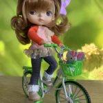 Велосипеды металлические - синий, зелёный, розовый