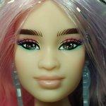 Барби Экстра пышка с розово-сиреневыми волосами нюд