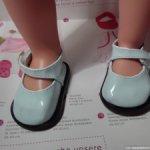 Светло-голубые лакированные туфли для Gotz, Готц, Journey Girls, American Girl и др. (4)