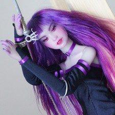 Фиолетовая bjd кукла под аниме