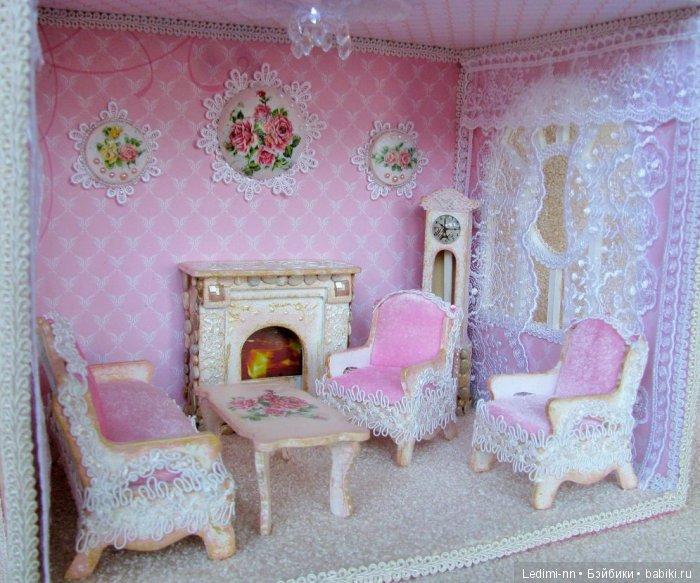 Кукольный дом Розовый 2