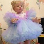 Шикарное платье для Балерины и 65-75 см ростом кукол
