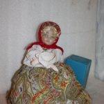 Кукла СССР. Кукла - грелка. Баба на чайник, на самовар. Ранняя.