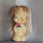 Кукла резиновая, пляжница времен СССР.