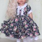 Шикарное пышное платье для куклы Готц