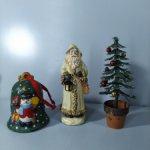Новогодний, рождественский комплект, колокольчик, санта-клаус, ёлочка