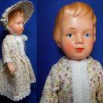 Старинная немецкая кукла-рельефка(32см).Сохранность!