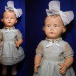 Старинная целлулоидная кукла-рельефка(45см) ,ГДР 50х.