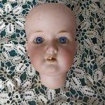 Голова антикварной куклы  Armand Marseille 390