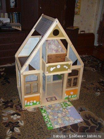 Кукольный дом. Делала внучке на первую годовщину.